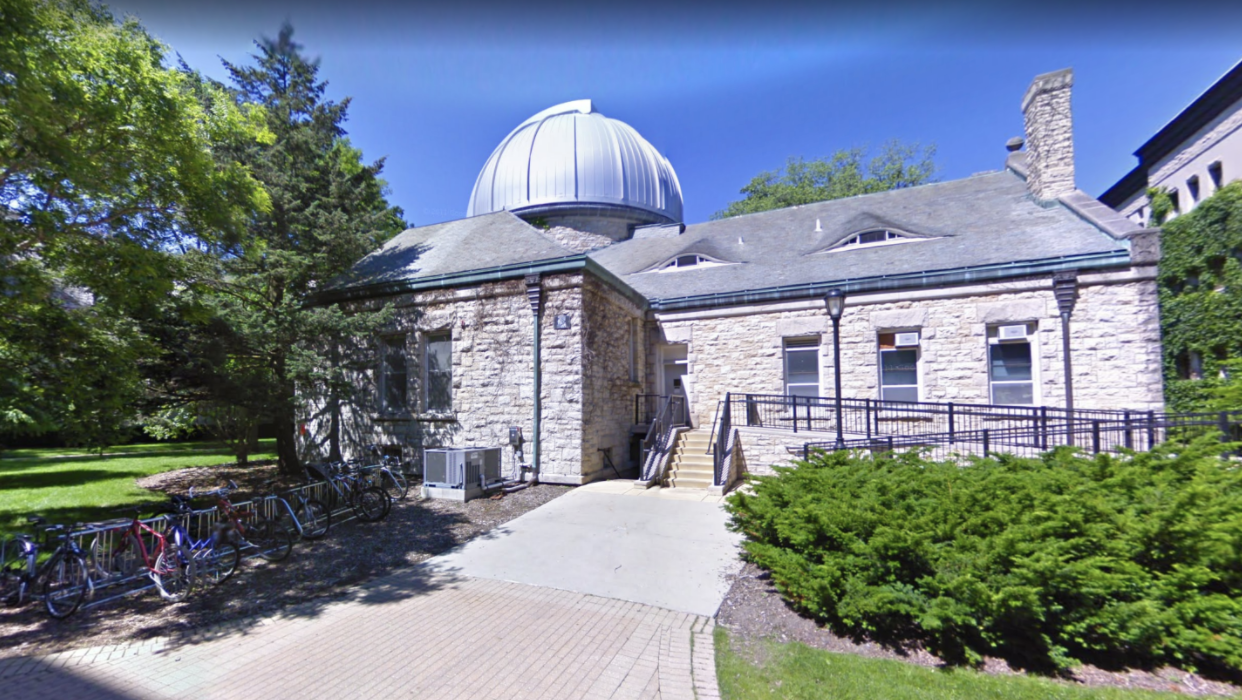 Image of Dearborn Observatory from Google maps