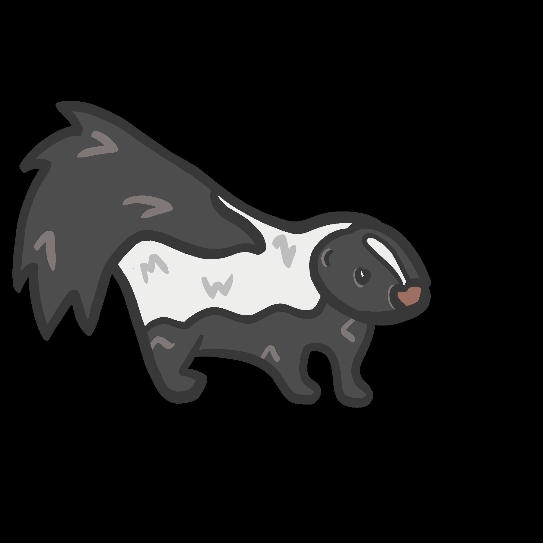Image of a cartoon skunk