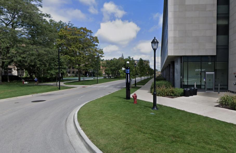 Image of a crosswalk near SPAC (Sports Pavillion)