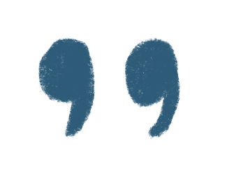 back-facing quotation marks