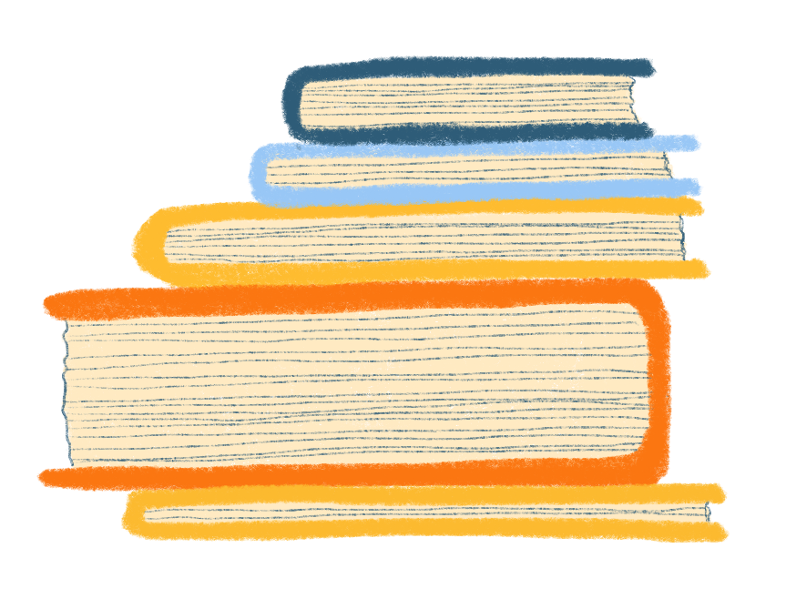 an illustration of a stack of books