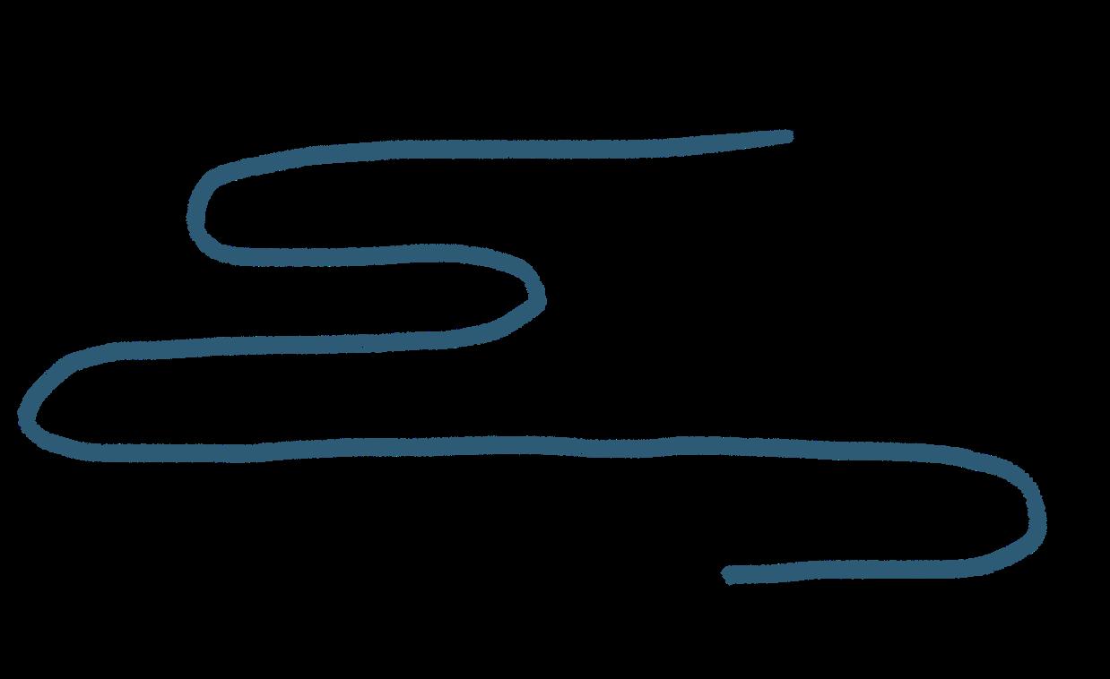 a wavy blue line